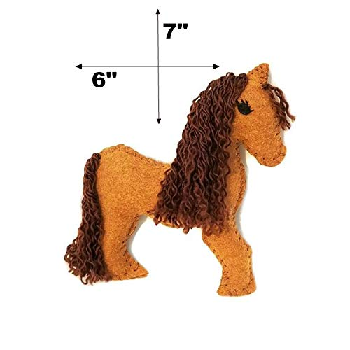 Wildflower Toys Horse Sewing Kit Kids - Felt Craft Kit Beginners ages 7+ - Makes 2 Felt Stuffed Horses by Wildflower Toys (Image #2)