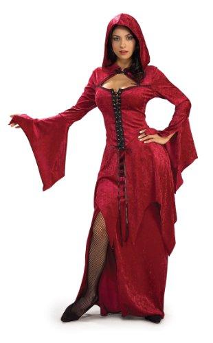 Rubie's Women's Crimson Vampira Costume, Red, One (Red Witch Costume)