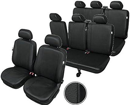 Fundas para asientos ya referencias set qz mercedes vito imitación cuero negro