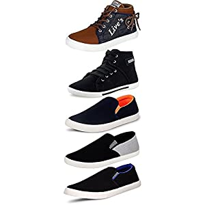 Maddy Combo Pack of 5 Sneakers Shoes for Men
