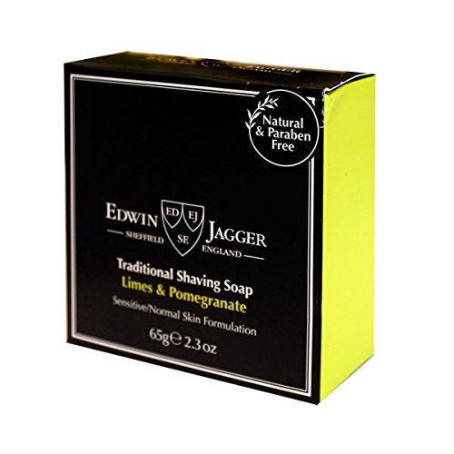 Jabón afeitar tradicional Lima y Granada 65gr, viaje. Edwin Jagger PPS-SSLPT