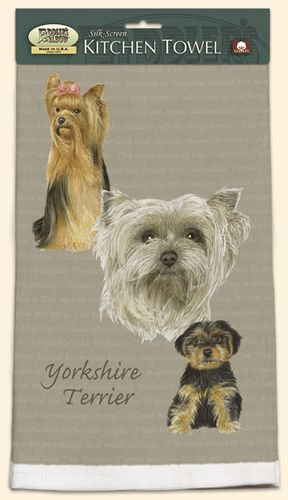 David Kiphuth Dog Breed Kitchen Towel--Yorkie Yorkshire Terrier