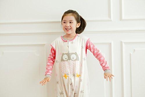 Vaenait Baby Kids Comfy Wearable Blanket Sleepsuits Sleep and Play 100/% Cotton Sleepsack Pink Owl S