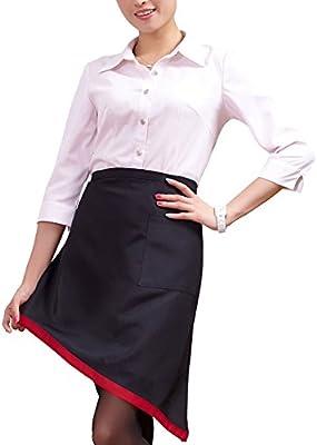 Cintura delantal comercial babero Chef delantal, dinero de la mitad delantal bolsillo frontal Cocina de restaurante bistro café tienda Bar camarera camarero delantal: Amazon.es: Hogar