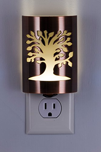 GE 29846 Coverlite Night Light, 1 Pack, Oil Rubbed Bronze | Tree of Life