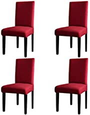 Greatime Stretch Dining Room Chair Slipcovers parsons chair Slipcovers Protector soft Removable Washable