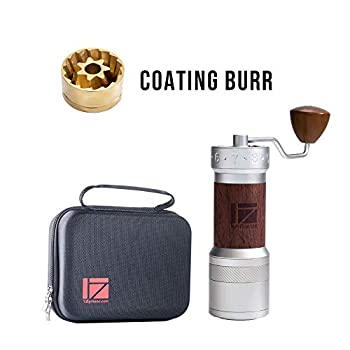 Image of 1Zpresso K-PLUS Series Manual Coffee Grinder Light Gray, External Numerical Adjustment Dial, Titanium-Coated Heptagon Conical Burr, Grinding Efficient and Consistent Grind, Handle Mill for A Variety of Brewing Methods Home and Kitchen
