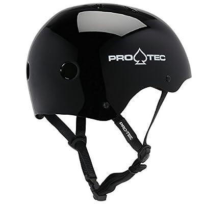 PRO-TEC Classic EPS Foam Liner Gloss Black Large Skateboard Helmet - CE/CPSC Certified : Skate And Skateboarding Helmets : Sports & Outdoors
