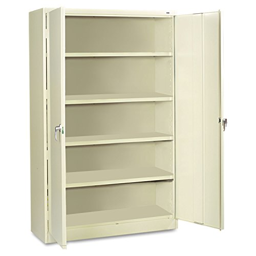 Tennsco J2478SU Heavy Gauge Steel Jumbo Storage Cabinet, 5 Shelves, 400 lbs Capacity per Shelf, 48'' Width x 78'' Height x 24'' Depth, Putty by Tennsco