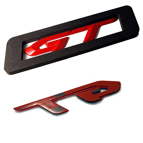 Detailpart Gt 3d Rode Red Type Emblem Sticker for All Car