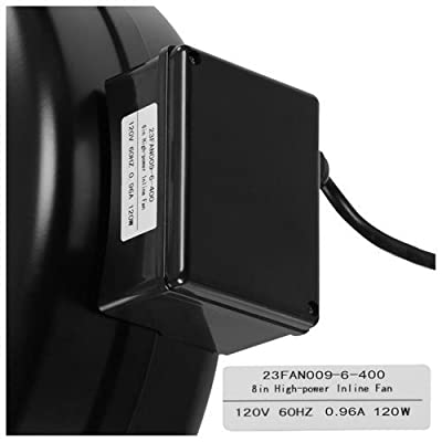 "Hydroponic 6"" 400 CFM Inline Vent Duct Exhaust Fan"
