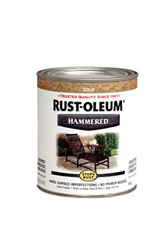 Rust-Oleum 7210502 Hammered Metal Finish, Gold Rush, - Metal Gold