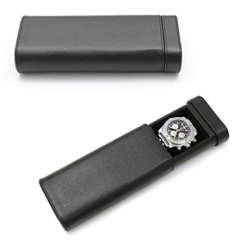 Orbita Verona Single Watch Case In Black Leather