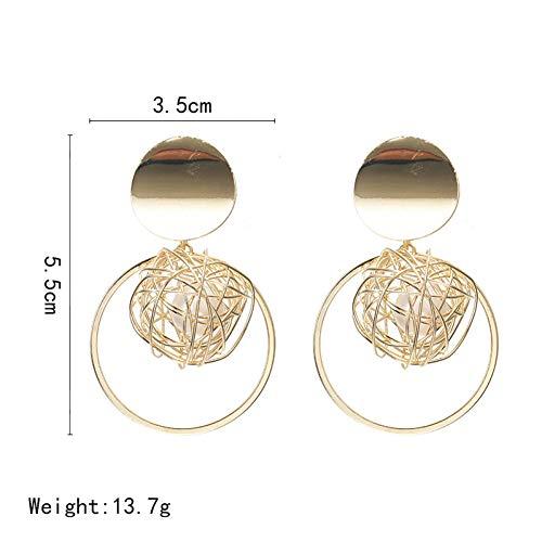 HUGJOU Earrings Ball Geometric Earrings For Women Round Dangle Earrings Modern Art Fashion Party Jewelry