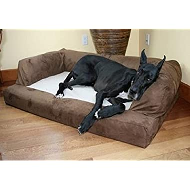 XXL Dog Bed Orthopedic Foam Sofa Couch Extra Large Size Great Dane - Chocolate