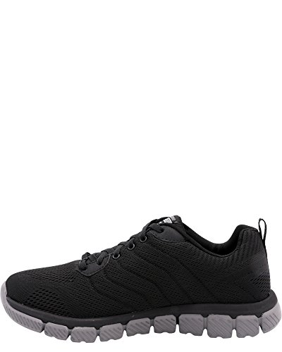 Skechers Mens Skech Flex 2,0 Milwee Fashion Sneaker Black / Charcoal
