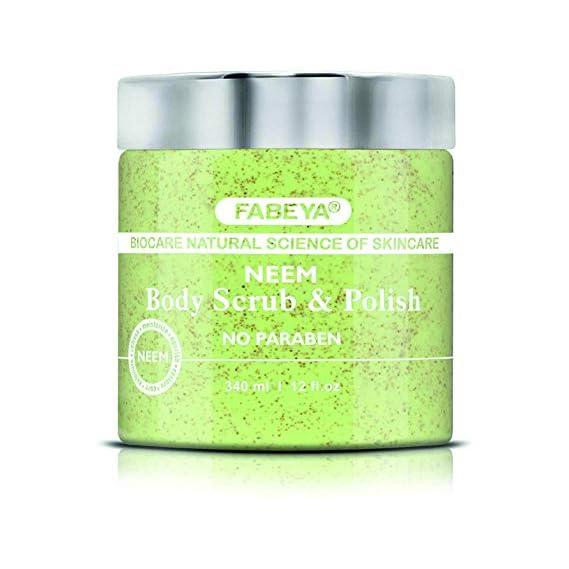 FABEYA Biocare Natural Neem Body Scrub and Polish, 340 ml