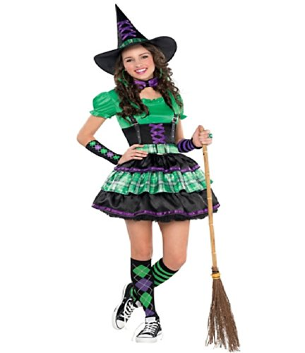 Teen Girls Costumes (Teen Girls Wicked Cool Witch Junior Size Medium 7-9)