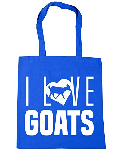 10 42cm Love Cornflower Bag Goats Gym Shopping Blue x38cm Beach HippoWarehouse Tote I litres 85T1xw5qv