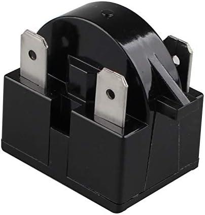 Futheda 15 Ohm Widerstand 3 Pin Kühlschrank Ersatzteile Ptc Starter Relais Gefrierschrank Kompressor Starter Kühlschrank Zubehör Für Kühlschrank Schwarz Elektro Großgeräte