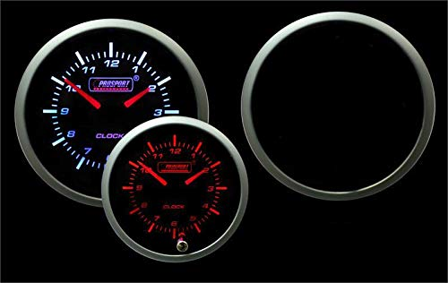 Prosport Universal Metric 52mm Volt Gauge with Clock 12 Volt