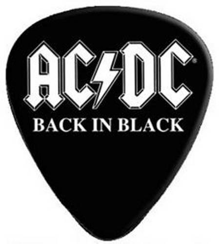 AC/DC - ONE Guitar Pick Back In Black Angus Logo Licensed New (Dc Guitar Logo)