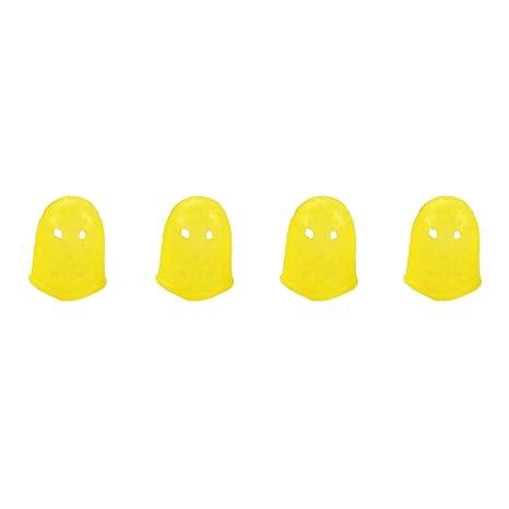Protectores de dedos de silicona para guitarra eléctrica o ukelelele, 4 unidades, tamaño S
