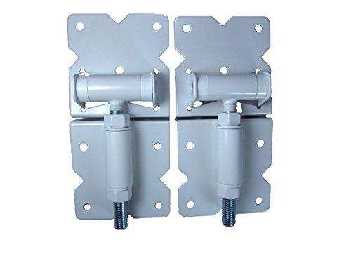 Vinyl Fence Gate Hinges (White Pair) by Custom Fence