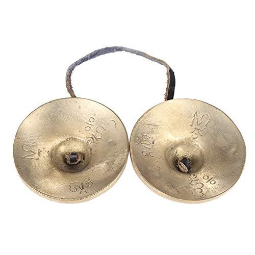 Forfar Tingsha Tibetan Bell Meditation Handcrafted Cymbal Bell Copper Crisp Sound Lucky Symbols Buddhist Temple