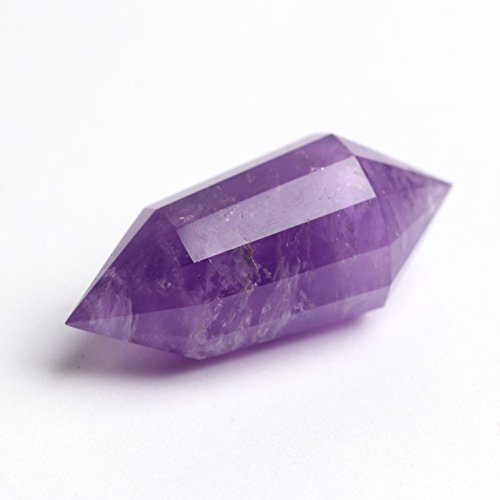 Natural Amethyst Quartz 12 Sided Facet from Tibet, Vogel Style Wand Point Healing, Wiccan Pagan Crystal