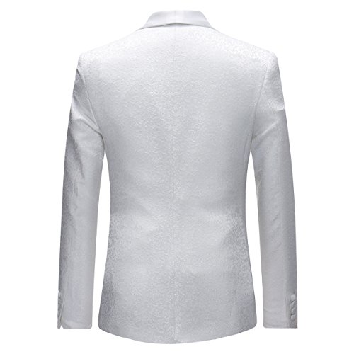 Per Giacca Bianco Fit Gilet Abito Bavero 3 Slim Scialle Uomo Wedding Abiti Pantaloni Pranzo Da Pezzi nav4zq