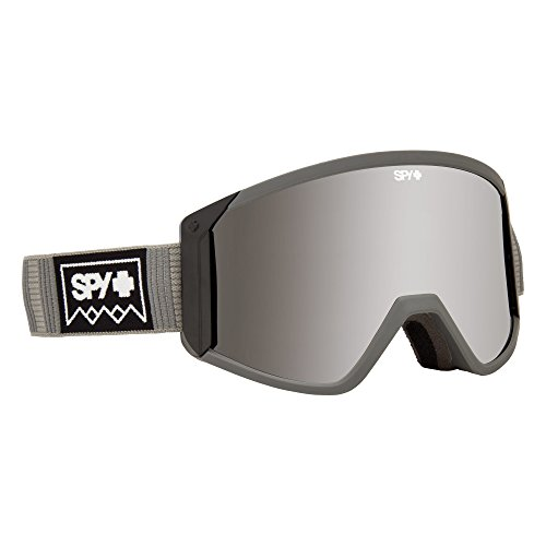 Spy Optic Raider Snow Goggles   Clean Design and All Day Comfort   Ski, Snowboard or Snowmobile Goggle   Two Lenses with Patented Happy Lens Tech   Deep Winter Gray