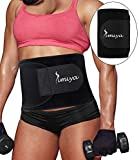 SIMIYA Waist Trimmer for Women & Men, Neoprene Sauna Slim Belt, Abdominal Trainer, Stomach Wraps for Weight Loss, Low Back and Lumbar Support, Adjustable Stomach Belly Fat Burner Wrap