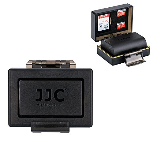 """JJC Water-resistant Battery Case and SD Card Case for Camera Battery below 2.20"""" x 1.49"""" x 0.82"""" & 1 SD Card and 2 Micro SD Card(TF Card) -  BCUN1"""