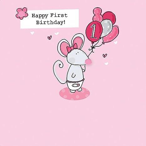 Amazon Saffron Happy 1st Birthday Card Office Products