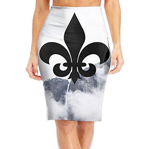 Fleur De Lis Women's Sexy Fashion Short Pencil (Fleur De Lis Skirt)