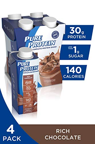 Pure Protein Complete Ready to Drink Shakes, High Protein Rich Chocolate, 11oz, 4 Count