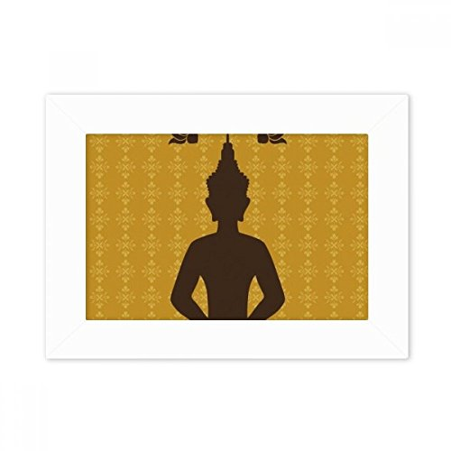 DIYthinker Thailand Culture Buddhism Buddha Statue Desktop Photo Frame White Picture Art Painting 5x7 inch by DIYthinker