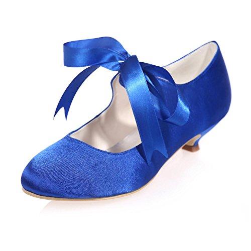 9001 Couleurs Party Mid YC Party amp; L Night Pompes 05 blue Silk Pour Femmes Mariage More Chaussures De xFWZwUqg4