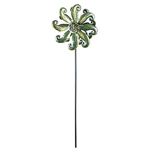 Collections Etc Double Sun Décor Windspinner Solar Garden Yard Stake by Collections Etc