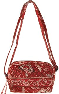 product image for Stephanie Dawn Small Carry All - Burnt Ruby New Quilted Handbag USA 10015-003
