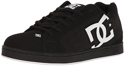 Dc Mens Net Se Skateboarding Shoe  Black White Black  14 D Us