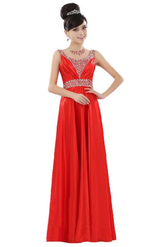 Red Formal Straps Women's Evening Dresses Beauty Sequins Maxi Emily Color 4 vSqIZYR