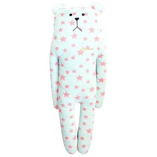 Craftholic Present Sloth / Blue & Pink Stars Teddy Bear Hug Cushion / Very Soft Plush Toy / 100% Polyester / Large Size