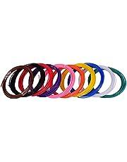 Domary Anet 10pcs 1,75mm PCL Filament Eco-friendly Material Caneta 3D Recargas de filamento Conjunto Premium de 10 cores diferentes para impressora de caneta de impressão 3D Anet TECBOSS (cada cor 5m, Totalmente 50m)