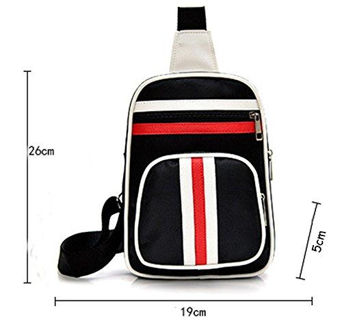 LemonGirl Herren Sling Brusttasche, Sling BackPack Crossbody Taschen Outdoor Wandern DayPacks Black1