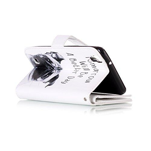 Funda Carcasas LG X Power,Ukayfe Flip Funda PU Piel para LG X Power,LG X Power Lujo Caso Protector Billetera Tapa Estuches Flip Cover Folio Funda Wallet de Cuero de Empalme para LG X Power Soporte Ple Doguillo