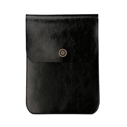 Weich PU Lederhülle Wasserdicht Ultrabook Laptop Tasche für Kindle Paperwhite 1 2 3/Voyage/New Kindle 8th Generation (2016 Version) Hellbraun Schwarz