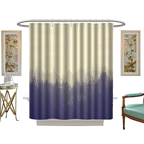 luvoluxhome Shower Curtains Fabric The Mist Shrouded The Forest Bathroom Decor Set with Hooks W72 x L96