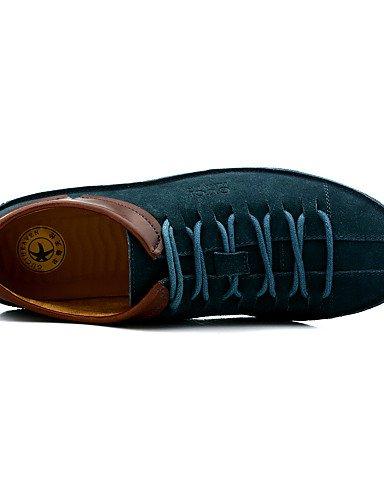 Ei&iLI 0.5 El talón plano Confort Oxfords Zapatos hombres del cuero (más colores) , blue-us10 / eu43 / uk9 / cn44 , blue-us10 / eu43 / uk9 / cn44 blue-us10 / eu43 / uk9 / cn44